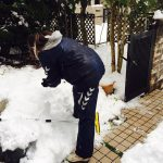 センター試験を終えた娘と大量の雪だるまたち